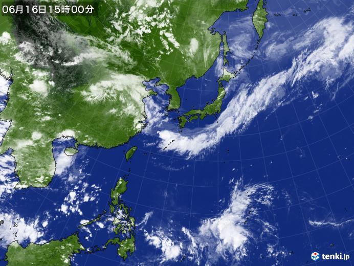 実況天気図(2020年06月16日)