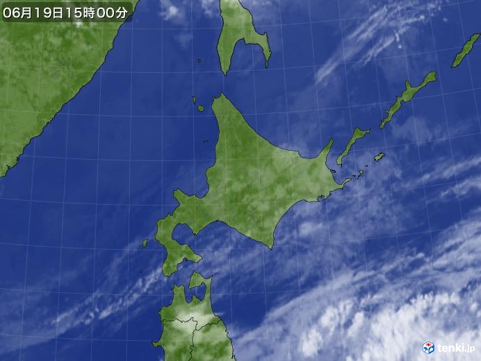 実況天気図(2020年06月19日)