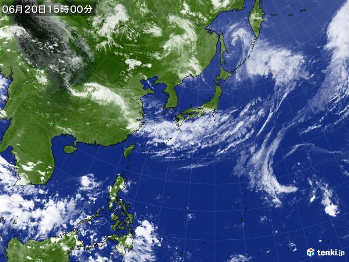 実況天気図(2020年06月20日)