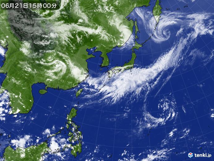 実況天気図(2020年06月21日)