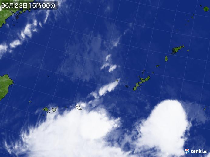 実況天気図(2020年06月23日)