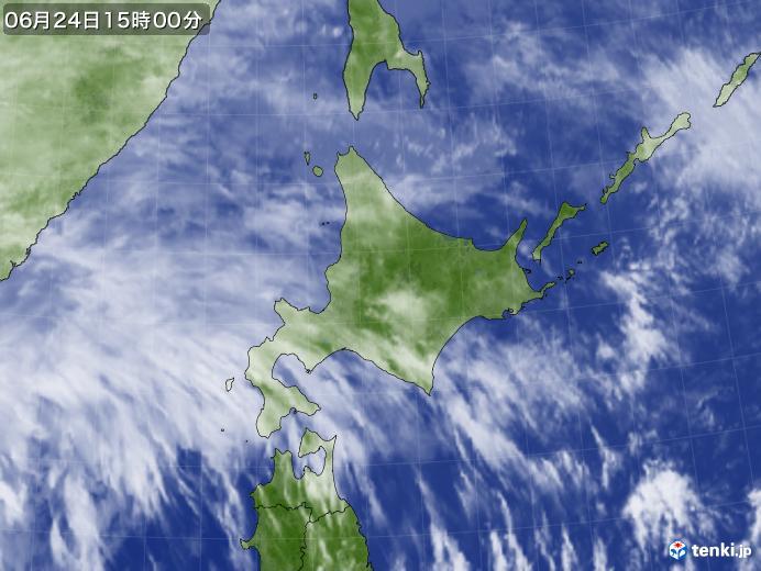 実況天気図(2020年06月24日)