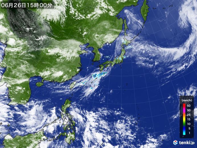実況天気図(2020年06月26日)