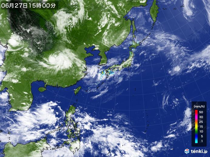 実況天気図(2020年06月27日)