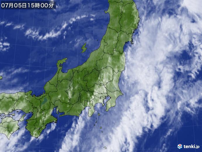 実況天気図(2020年07月05日)