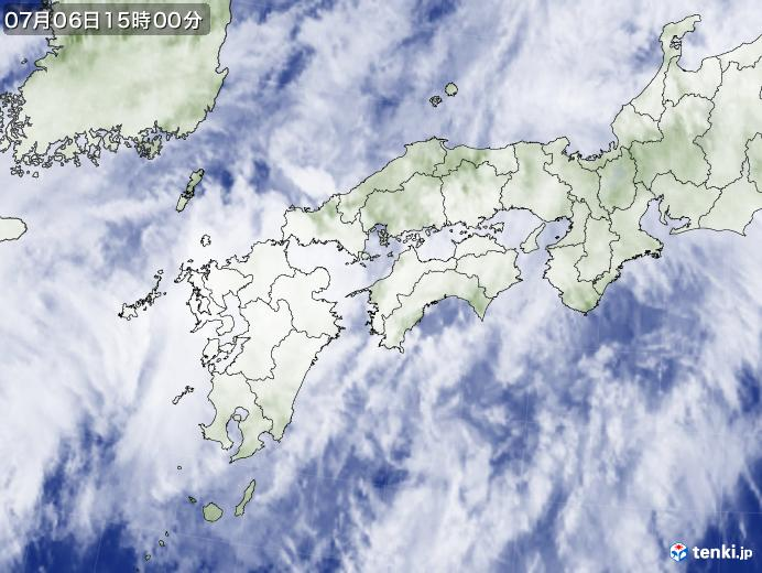 実況天気図(2020年07月06日)