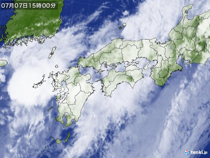 実況天気図(2020年07月07日)