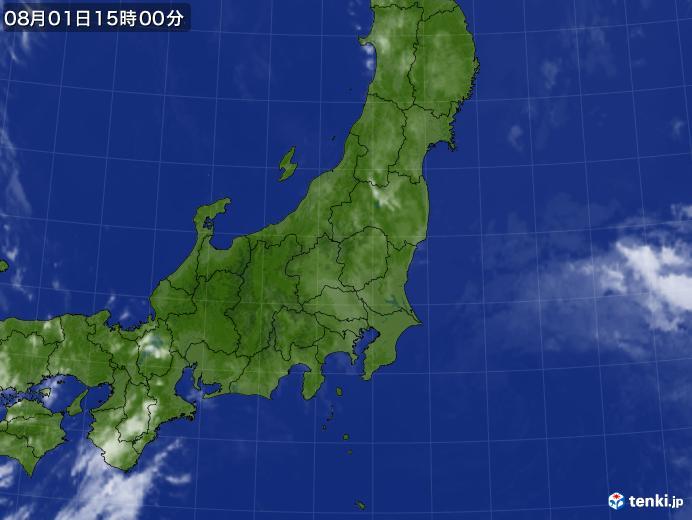 実況天気図(2020年08月01日)