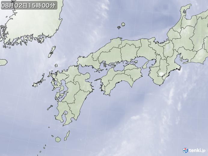 実況天気図(2020年08月02日)
