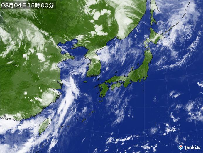 実況天気図(2020年08月04日)