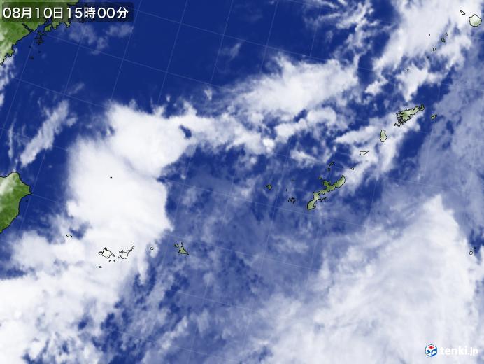 実況天気図(2020年08月10日)
