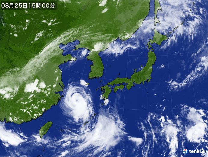 実況天気図(2020年08月25日)