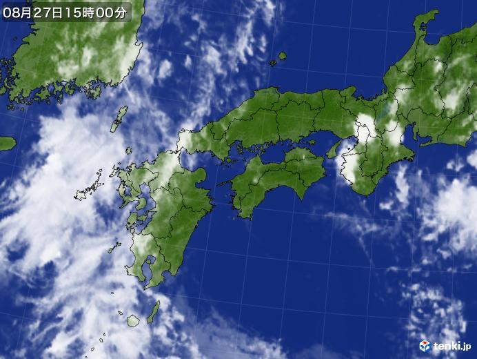 実況天気図(2020年08月27日)