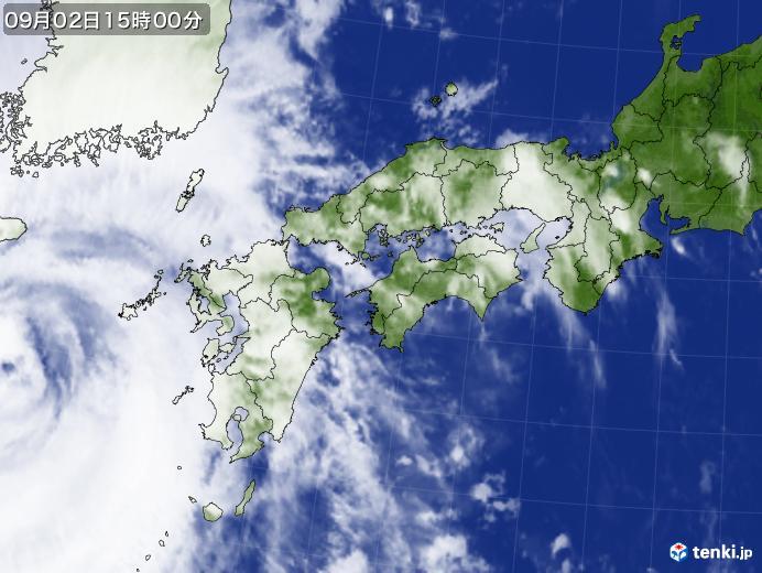 実況天気図(2020年09月02日)