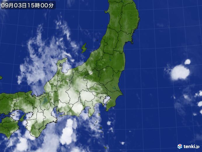 実況天気図(2020年09月03日)