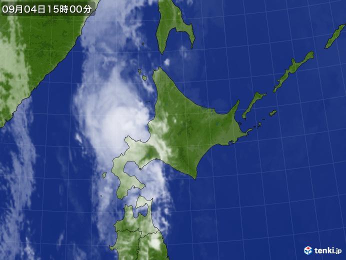実況天気図(2020年09月04日)
