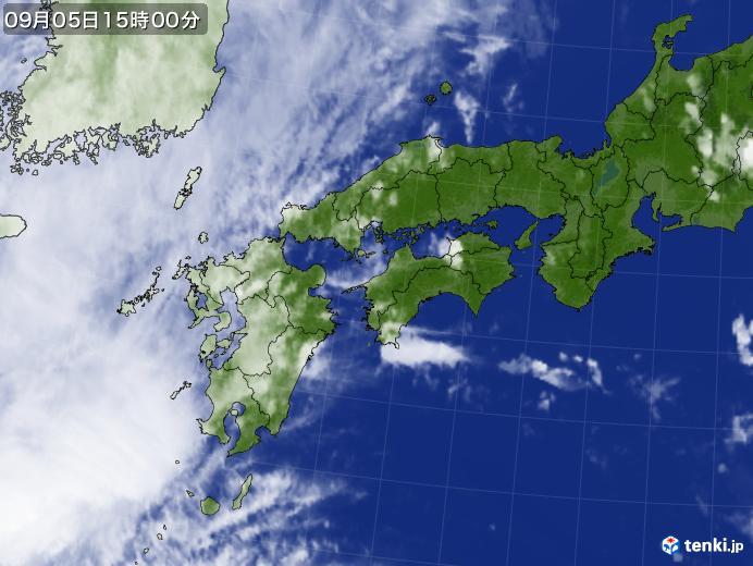 実況天気図(2020年09月05日)