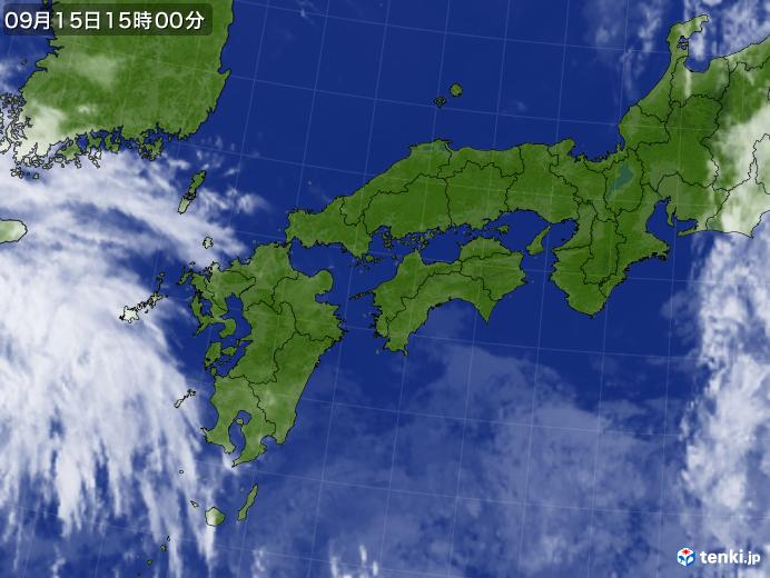 実況天気図(2020年09月15日)