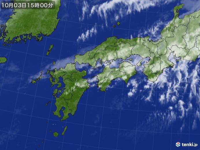 実況天気図(2020年10月03日)
