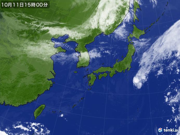 実況天気図(2020年10月11日)