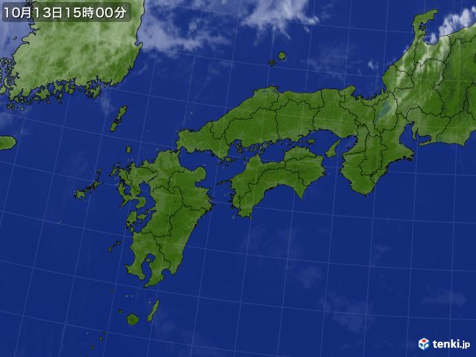 実況天気図(2020年10月13日)