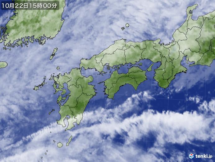 実況天気図(2020年10月22日)