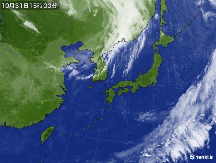 実況天気図(2020年10月31日)
