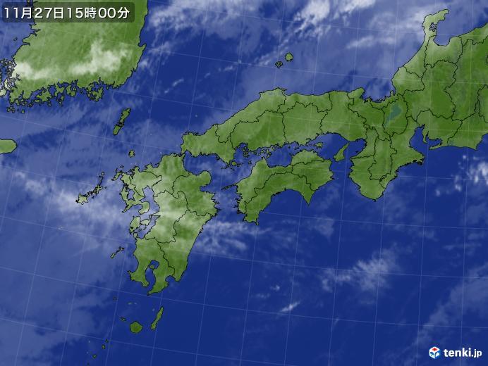 実況天気図(2020年11月27日)
