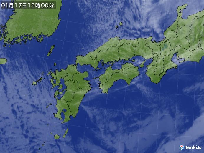 実況天気図(2021年01月17日)