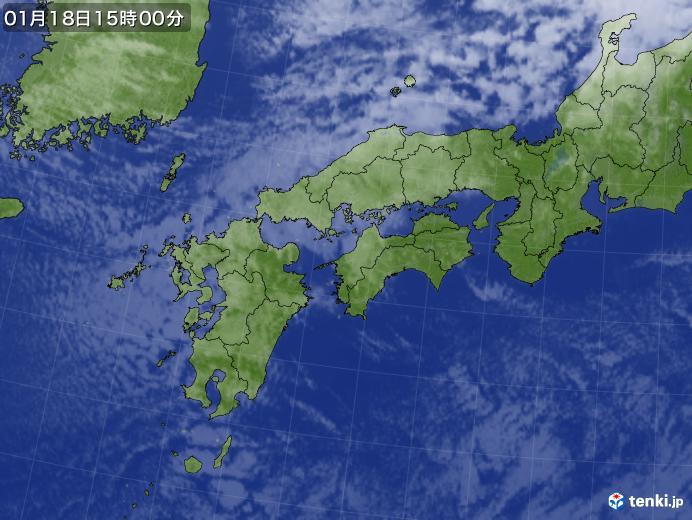 実況天気図(2021年01月18日)