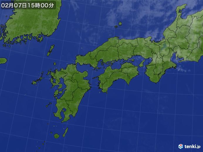 実況天気図(2021年02月07日)
