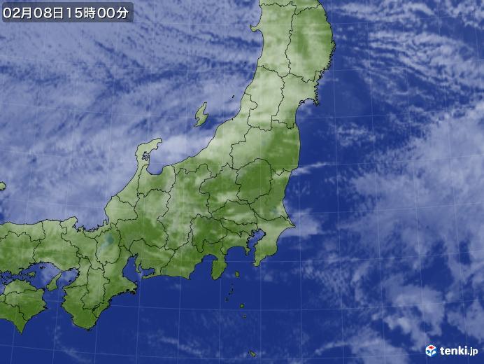 実況天気図(2021年02月08日)