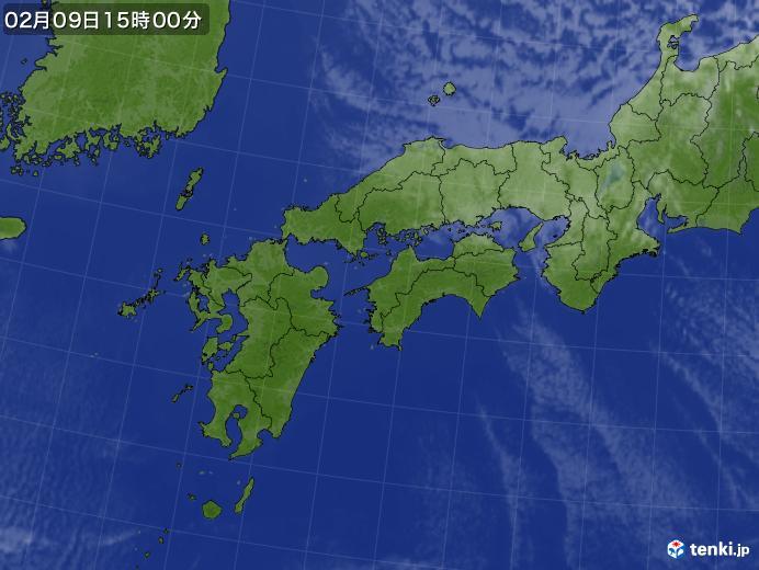 実況天気図(2021年02月09日)