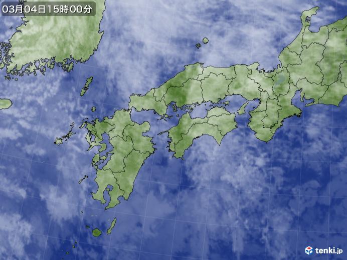 実況天気図(2021年03月04日)