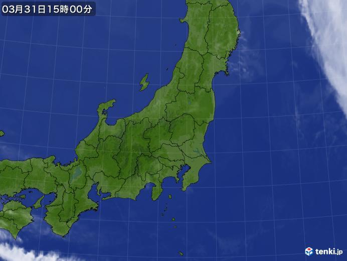 実況天気図(2021年03月31日)