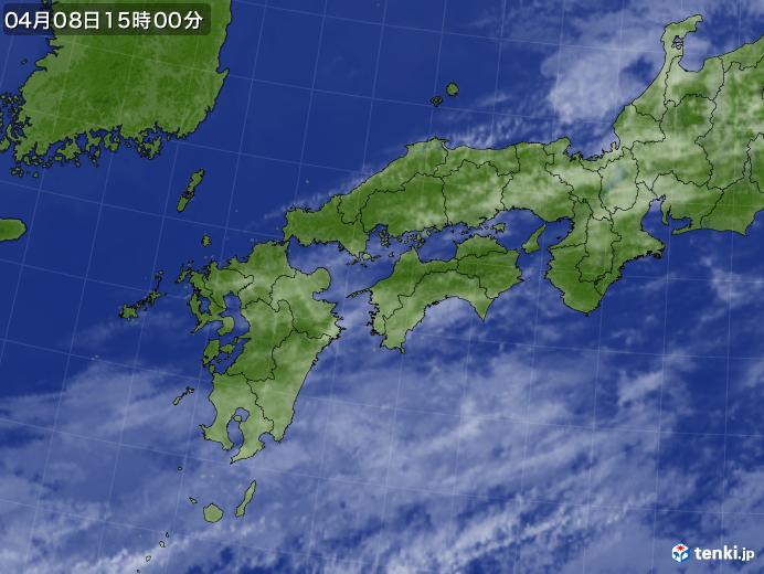 実況天気図(2021年04月08日)
