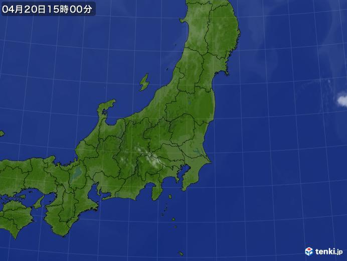 実況天気図(2021年04月20日)