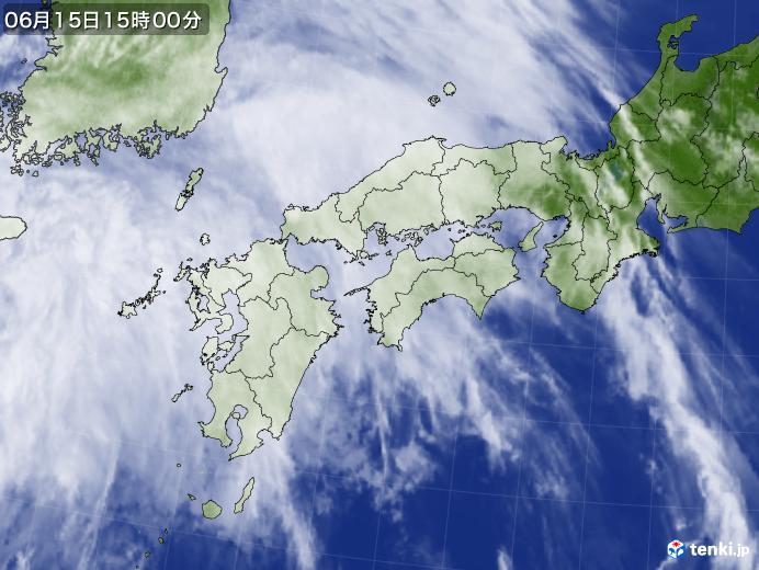 実況天気図(2021年06月15日)