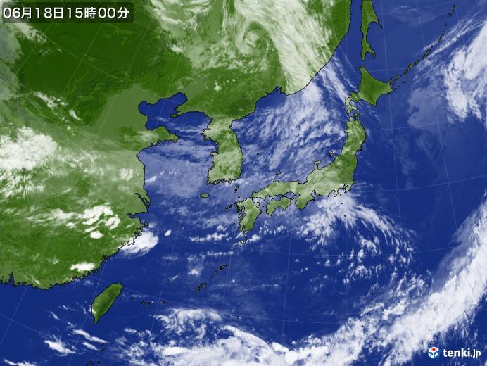 実況天気図(2021年06月18日)