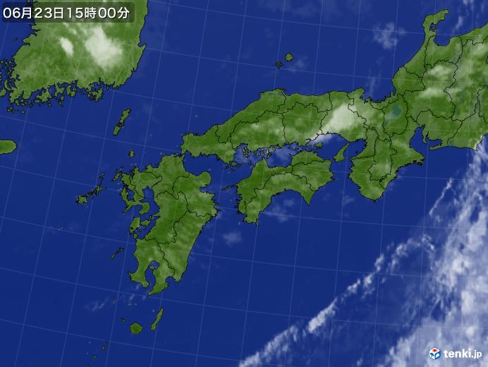 実況天気図(2021年06月23日)