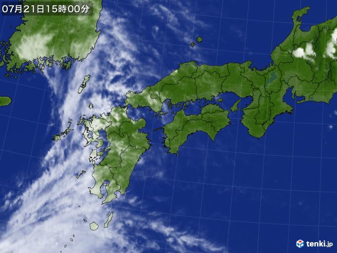 実況天気図(2021年07月21日)