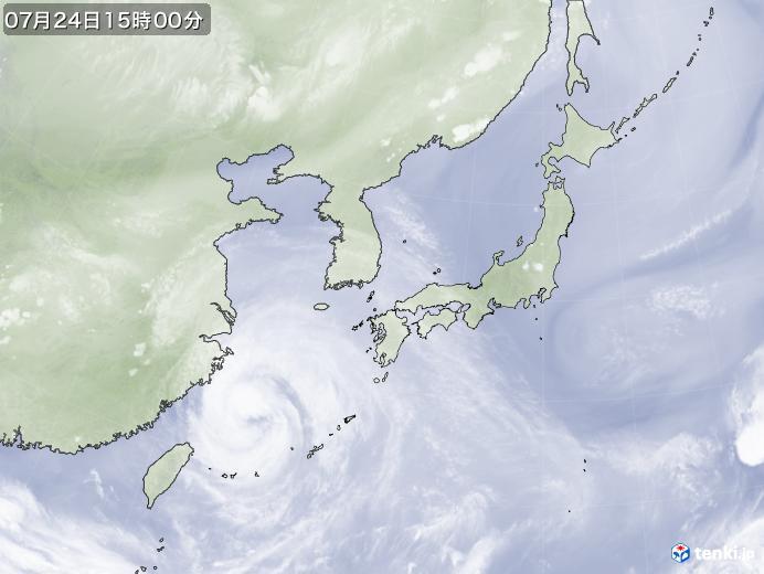 実況天気図(2021年07月24日)