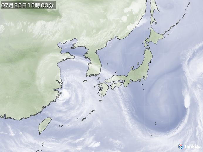 実況天気図(2021年07月25日)