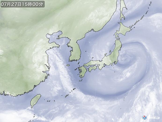実況天気図(2021年07月27日)