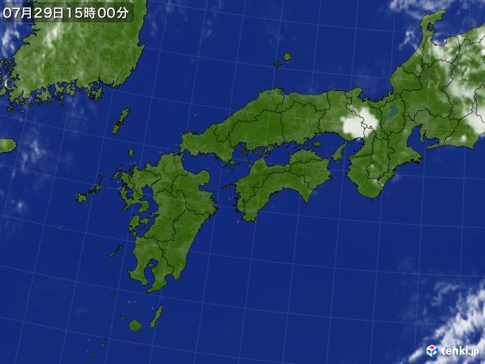 実況天気図(2021年07月29日)