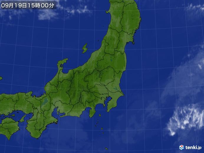 実況天気図(2021年09月19日)