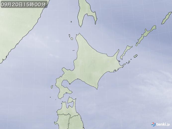実況天気図(2021年09月20日)