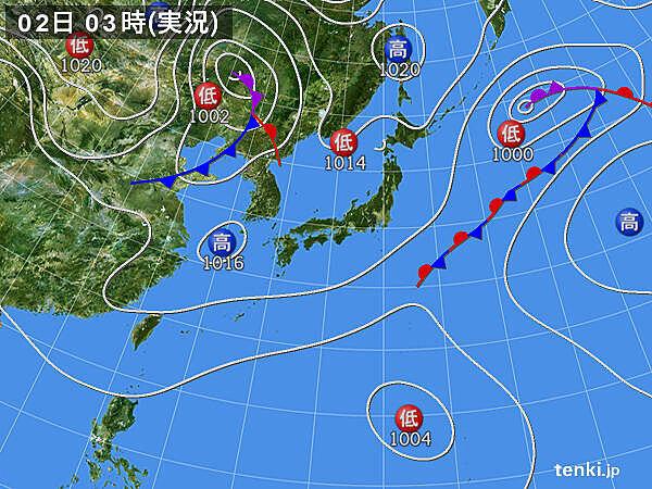 2日 多くの所で晴れて日中は汗ばむほど 北海道はスッキリせず急な雨も