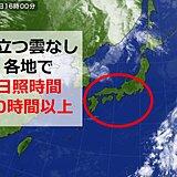 東京や大阪など日照時間10時間以上 京都は10月に2日連続は5年ぶり