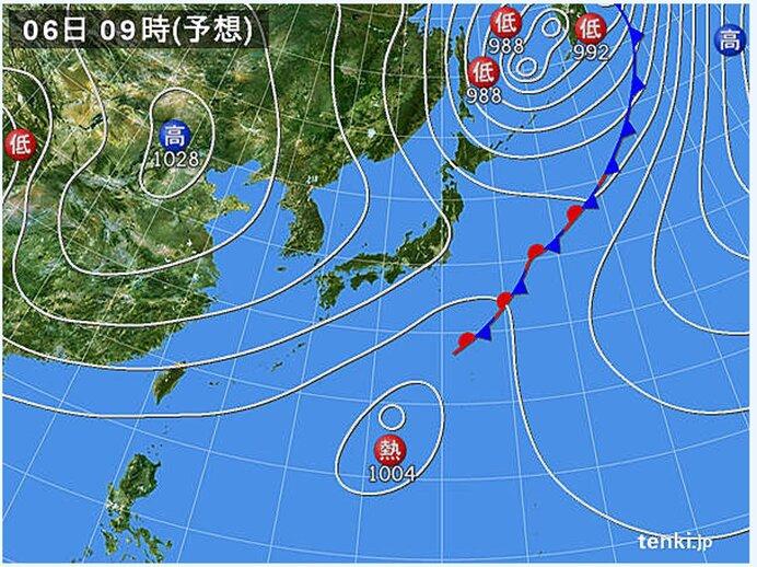 南の海上で熱帯低気圧が発生へ